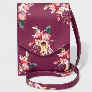 Wallet on a String Crossbody Bag Plum Purple Multi